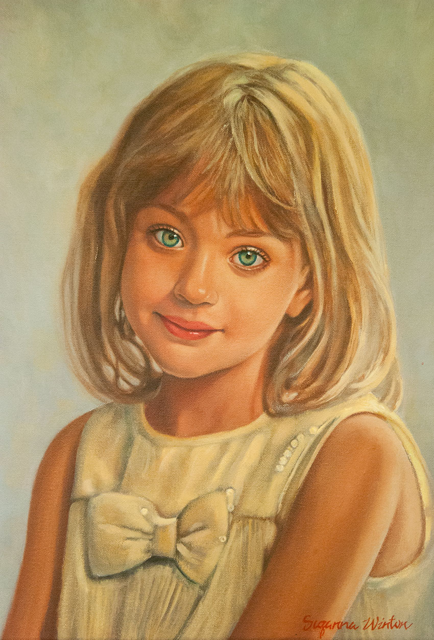 Daughter of the Stolarik Family- Oil Portrait